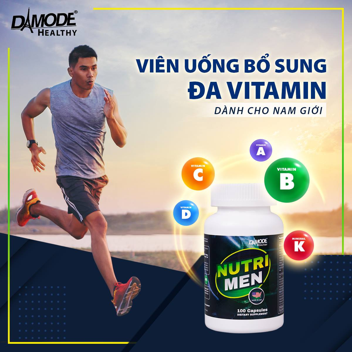 Vitamin, khoáng chất, tăng sức đề kháng cho Nam - Nutri Men